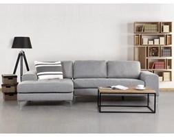 Sofa jasnoszara - sofa narozna - tapicerowana - KIRUNA