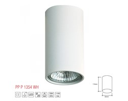PP P Design P 1354/W PLAFON NOWOCZESNA LAMPA SUFITOWA OPRAWA NATYNKOWA ALUMINIUM BIAŁY GU10 LED