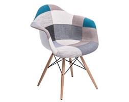 Krzesło P018W inspirowane DAW patchwork niebiesko-szary