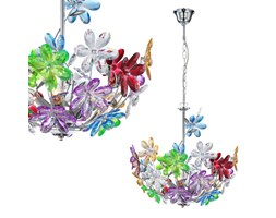 LAMPA wisząca RAINBOW 51530-3H Globo dekoracyjny ŻYRANDOL kwiaty multikolor