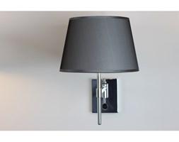 PP Design K 445 KINKIET LAMPA ŚCIENNA CHROM ABAŻUR MATERIAŁ SZARY WŁĄCZNIK REGULOWANY E27 LED