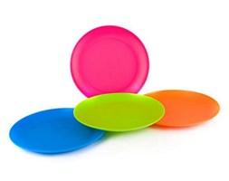 4-częściowy zestaw talerzy płytkich plastikowych ,