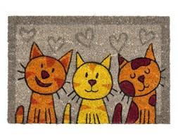 Wycieraczka zkokosa koty szara, 40 x 60 cm,