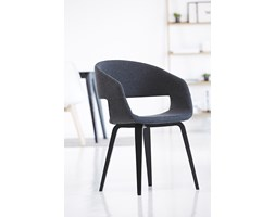 Krzesło NOVA szare, tkanina, drewno malowane, 22144-13