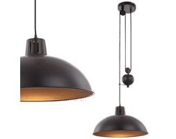 LAMPA wisząca SACRAMENTO 15075 Globo metalowa OPRAWA industrialny ZWIS kopuła czarny