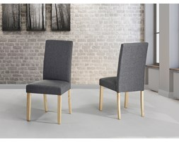 Fotel tapicerowany szary - krzeslo do jadalni, kuchni - BROADWAY