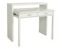Białe wysuwane biurko Console