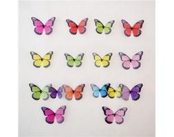 Naklejki 3D motyle kolorowe, 18 szt.,