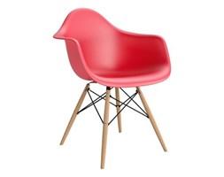 Krzesło P018W PP czerwone, drewniane nogi HF kod: DK-62276 - do kupienia: www.superwnetrze.pl