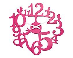 Zegar ścienny Koziol Pi:p różowy kod: KZ-2327584 - do kupienia: www.superwnetrze.pl