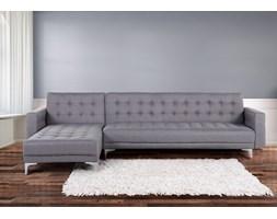 Sofa szara - kanapa - tapicerowana - rozkladana - naroznik - ABERDEEN