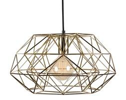 DIAMOND 7 - Lampa wisząca Złoty kabel Czarny Ø42cm
