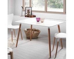 Stół do jadalni drewniany biały Dedo