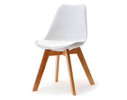 Krzesło Z Tworzywa I Drewna Luis Wood Białe