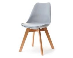 Krzesło Z Tworzywa I Drewna Luis Wood Szare