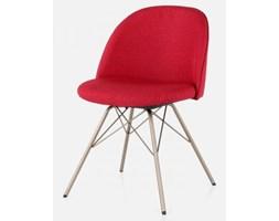 Krzesło Ally Porgy czerwone nogi brązowe Tenzo AllyPorgy-CZE-BR
