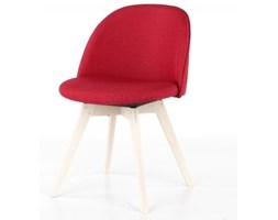 Krzesło Ally Bess czerwone nogi bielone Tenzo AllyBess-CZE-BP