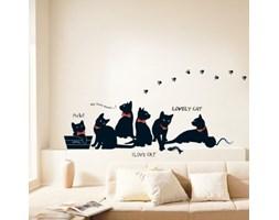 Naklejka Black Cats with Bowties