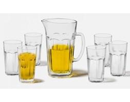 LEONARDO Zestaw dzbanek do soku + 6 wysokich szklanek Rock - l022499