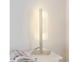 Szykowna lampa stołowa LED TARA, matowy nikiel