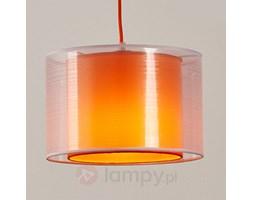 Pomaranczowa materiałowa lampa wisząca JASNA