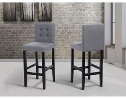 Fotel tapicerowany szary - krzesło barowe - MADISON