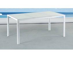 Stól ogrodowy bialy – 160 cm - meble ogrodowe – aluminium - CATANIA