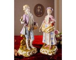 Młodzieniec i Dziewczyna Porcelanowe Figurki w Stylu Rokoko