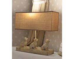 Stylowa Lampa z Trzema Mopsami