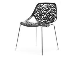Krzesło Ażurowe Labirynt Czarne