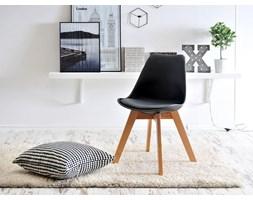 Krzesło Z Tworzywa I Drewna Luis Wood Czarne