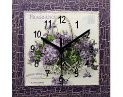 Zegar ścienny Bukiet fiołków 22 x 22 cm