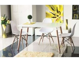 Stół NOLAN biały/buk 120x80