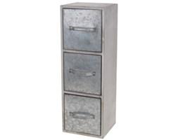 Drewniana szafka z metalowymi szufladami Ola