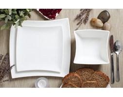 Serwis obiadowy WHITE na 6 osób (18 el.) -- biały - rabat 10 zł na pierwsze zakupy!