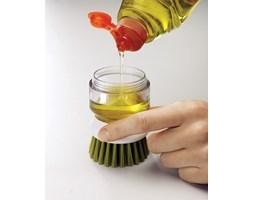 Szczotka do mycia naczyń z zasobnikiem Palm Scrub Joseph Joseph zielona