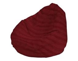 Dekoria Pokrowiec na worek do siedzenia, szenilowe bordowe pasy, worek Ø60x105 cm, Living