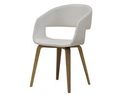 Krzesło NOVA białe, skóra ekologiczna, drewno olejowane, 22144-2
