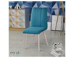 Krzesło scandy styl skandynawski z tkaniny na drewnianych nogach