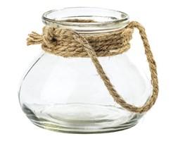 Świecznik szklany ze sznurkiem Galon