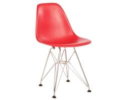Krzesło JuniorP016 czerwone, chrom. nogi kod: DK-5394 - do kupienia: www.superwnetrze.pl