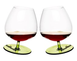 Kieliszki do brandy bujające 2 szt. Sagaform Bar zielone kod: SF-5016544 - do kupienia: www.superwnetrze.pl