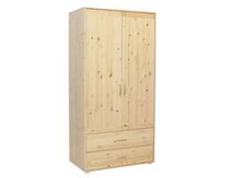 Szafa 2D,2 szufl, korpus naturalny, fronty naturalne, paski białe, 101x56,5x200