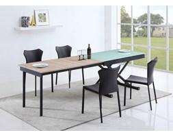 MAESTRO stół rozkładany biały / dąb sonoma Halmar