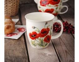 Kubek do herbaty DUO KLASYCZNY MAKI 550 ml -- kremowy czerwony zielony - rabat 10 zł na pierwsze zakupy!