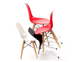 Krzesło JuniorP016 białe,drewniane nogi kod: DK-5352 - do kupienia: www.superwnetrze.pl