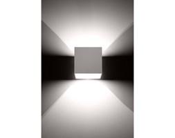 Kwadratowa lampa ścienna kinkiet Quad Biały kostka LED!