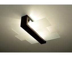 Drewniana lampa sufitowa Designerski Plafon FENIKS 2 wenge