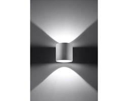 Okrągła lampa ścienna kinkiet Orbis Biały walec LED!