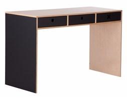 Kółko Krzyżyk :: Biurko 120 x 50 czarne (czarny bok)
